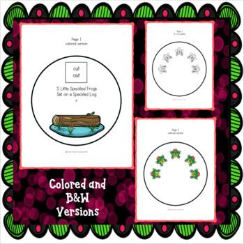FIVE LITTLE SPECKLED FROGS; Preschool Craftivities, math activities & puppets