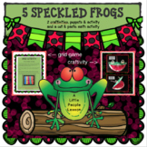 FIVE LITTLE SPECKLED FROGS; Preschool Craftivities, math,