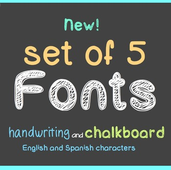 FREE - FIVE New FONTS - Chalkboard and Handwriting - personal classroom use