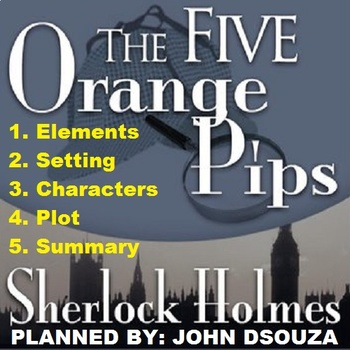 FIVE ORANGE PIPS - DETECTIVE STORY: LESSONS & RESOURCES
