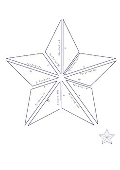 EQUATION PUZZLE: A five pointed star.