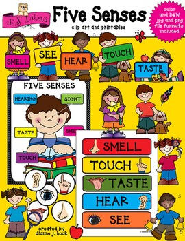 Five Senses Clip Art & Printables