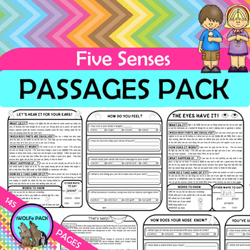 Five Senses Reading Teaching Resources | Teachers Pay Teachers