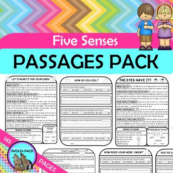FIVE SENSES Reading Text Passages 5 SENSES Facts
