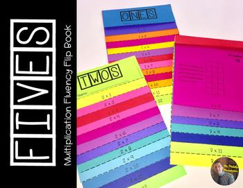 FIVES Multiplication Fact Fluency Flip Book: Grades 3-5