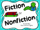 Fiction and Nonfiction Text Features Sort