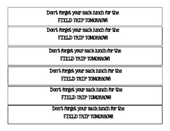 FIeld Trip Reminder Bracelet