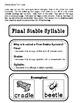 Final Stable Syllable - Phonics