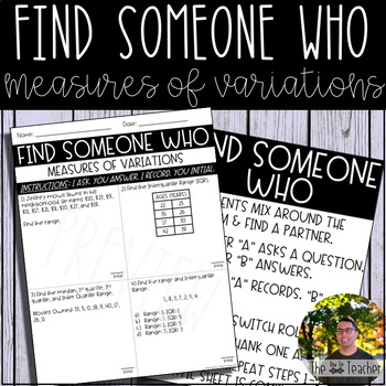 Find Someone Who (Measures of Variation)