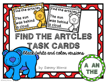 Find the Articles Task Cards