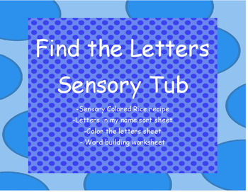 FInd the Letters Sensory Tub