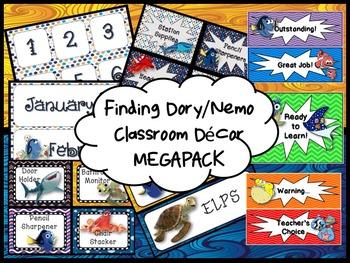 Finding Dory/Nemo Classroom Decor Bundle