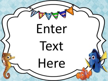Finding Nemo/Dory Themed Landscape Classroom Posters {EDITABLE}