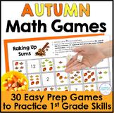 Autumn Math Games for First Grade
