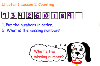 FIrst Grade Math Task Card- Counting