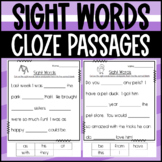 Sight Word Cloze Passages- Fill in the paragraphs with the
