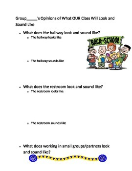 FIrst day of school: what does the school look like/sound like at certain times