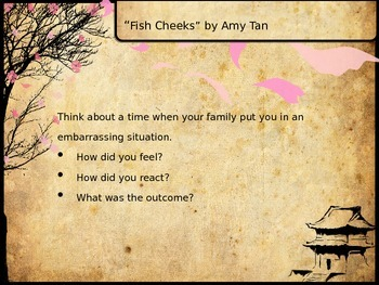 FIsh Cheeks by Amy Tan Anticipation Guide
