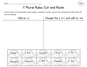 Fishing For Plurals Sorting Games