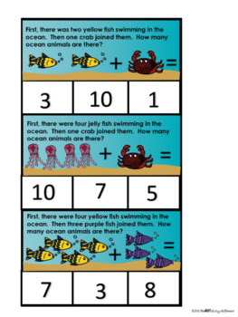 Word Problem Clipcards for Ocean Unit