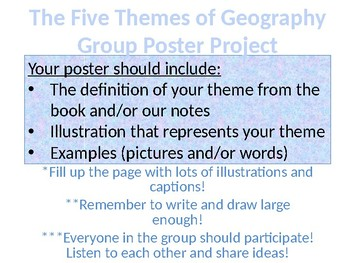 Five Themes of Geography Info. and Collaborative Poster Project