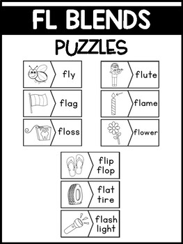 FL Blends Phonics Center:  Picture and Word Match Puzzles
