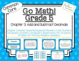 Go Math! Grade 5 Chapter 3 Essential Question, Vocabulary, I Can, Problem Day