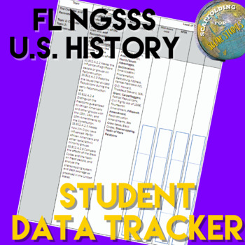 FL NGSSS US History Benchmark Student Data Tracker for EOC