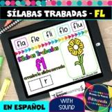 FL Syllables in Spanish - Sílabas Trabadas FL - Boom Cards
