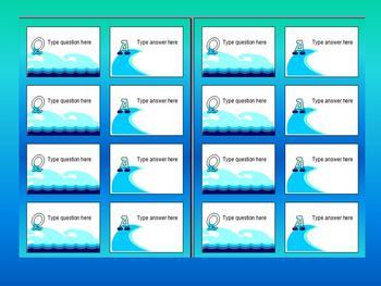 FLACH CARD TEMPLATE with OCEAN THEME