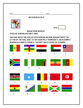 FLAGS OF AFRICA: A QUIZ