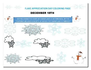 FLAKE APPRECIATION DAY COLORING PAGE: DECEMBER 18TH