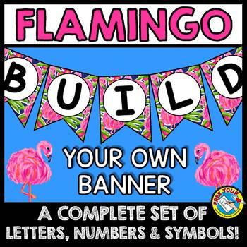 FLAMINGO BULLETIN BOARD BANNERS (FLAMINGO CLASSROOM DECOR BANNERS)