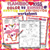 FLAMINGO KISS COLOR BY NUMBER FOR ADDITION AND SUBTRACTION
