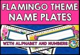 FLAMINGO NAME TAGS ❤ FLAMINGO CLASSROOM DECOR (FLAMINGO TH