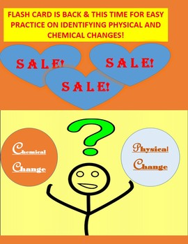 FLASH CARD FOR PHYSICAL AND CHEMICAL CHANGES