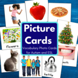 Vocabulary Cards for Speech Therapy, Autism, ESL (pack 1)