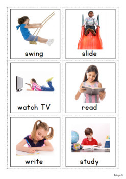 Vocabulary Cards for Speech Therapy, Autism, ESL