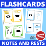 FLASH CARDS - The notes and rest values - BONUS worksheet