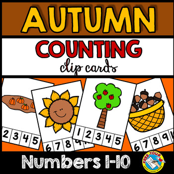 PRESCHOOL AUTUMN COUNTING CENTERS 1-10 (FALL KINDERGARTEN COUNTING ACTIVITIES