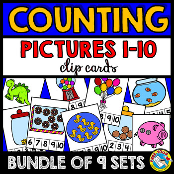 COUNTING PICTURES CENTERS 1-10 (PRE K + KINDERGARTEN COUNTING ACTIVITIES)