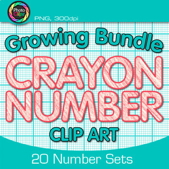 CRAYON NUMBER CLIP ART BUNDLE {Classroom Decor & Resource Use}