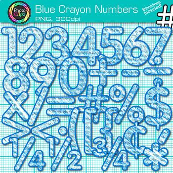 CRAYON NUMBER CLIP ART BUNDLE {Classroom Decor & Resource Use}
