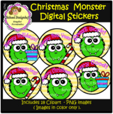 FLASH DEAL - Christmas Monster Digital Stickers - Clipart (School Designhcf)