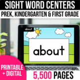 Digital Sight Word Practice Google Slides End of the Year Activities Summer