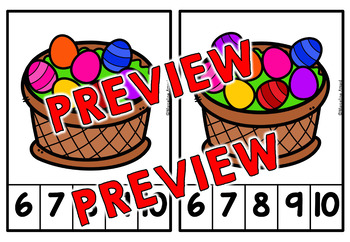 PRESCHOOL EASTER ACTIVITIES (KINDERGARTEN NUMBERS 1-10 CENTER)