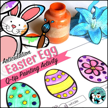 Easter Egg Q-Tip Painting for Speech & Language