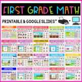 First Grade Math Centers - 1st Grade Math Task Cards BUNDLE