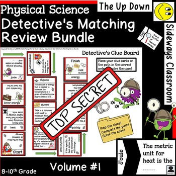 Physical Science Volume #1 Detective's Matching Review Bundle
