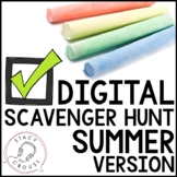 Summer Teletherapy Digital Scavenger Hunt Interactive PDF
